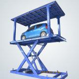 住宅のガレージの駐車場は二重デッキが付いている油圧上昇を切る