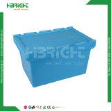 창고를 위한 뚜껑을%s 가진 플라스틱 접을 수 있는 콘테이너 그리고 병참술 상자