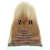 Balayageカラー自然な引かれたインドのRemyの毛100%の人間の毛髪の拡張