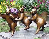 청동색 동상 동물성 조각품 예술