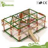 Оптовая игрушка для оборудования спортивной площадки смешной игры приключения малышей напольного Ropes курс