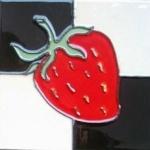Покрашенный рукой керамический магнит холодильника (MN02)