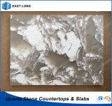 Brames en pierre conçues de quartz pour la surface solide avec la qualité (couleurs de marbre)