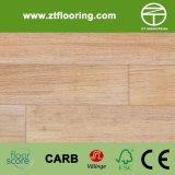 Suelo de bambú blanco natural del cepillo de Strandwoven