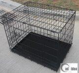 Het vouwbare Netwerk dat van het Metaal de Kooi van het Huisdier voor het Krat van de Hond vouwt