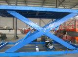 6 tonnes de capacité de levage hydraulique de la voiture de type ciseaux