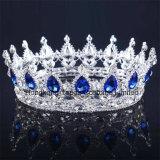 2018の最も新しいカスタマイズされたクリスマス・パーティの装飾の水晶王冠の結婚式のガラスStonneの金ラインストーンのティアラの花嫁の王冠(BC11)