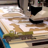 CCD-Kamera CNC-Form-Ausschnitt-Maschinen-ATC-Flachbett-Scherblock