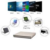 Внешний USB-устройство записи компакт-дисков DVD плеер для портативного компьютера/PC/Mac (серый)