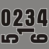 カスタム印刷の大きいブロックの卸売のサッカーの熱伝達番号
