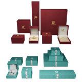 Nouveau design de gros de l'usine de papier/plastique/Bijoux en Bois cadeau parfum cosmétiques de luxe Watch Noir/Rouge boîtier carré de l'emballage fixe Box
