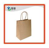Brown propias personalizadas Diseño de logotipo de la bolsa de papel Kraft de envases reciclados