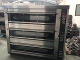 3つのデッキ6の皿の電気ベーキングオーブンの完全なパン屋機械