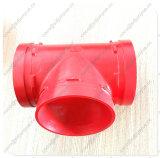 Montaggio Grooved Grooved del T degli accessori per tubi del ferro duttile