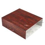 3D 4D 5D du grain du bois profilé en aluminium en poudre tube carré de la pulvérisation en aluminium extrudé