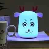 LED lumière nuit Bébé Kid 7 couleurs Design USB clignotant facturable Cute cat forme lampe de nuit en silicone