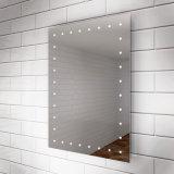 Belle Frameless voyant lumineux miroir sur un mur en salle de bains et Make-up Coiffeuse