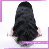 Peluca india del pelo de las mujeres del cordón lleno de la alta calidad