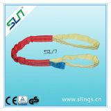 5t*10m Polyester-doppeltes Augen-rundes Riemen-Sicherheitsfaktor-6:1 Sln Cer GS