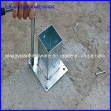 30mic verzinkte Pole Grundplatte für Pfosten-Halter