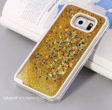 Caisse liquide de téléphone de sable d'étoile du PC 3D en gros de la Chine pour le cas de couverture de téléphone cellulaire de sable mouvant de la galaxie J2/J5/J7 de Samsung