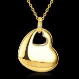 Manier Twee Materiële Tegenhanger van de Legering van het Zink van de Halsband van de Tegenhanger van de Vorm van het Hart de Gouden