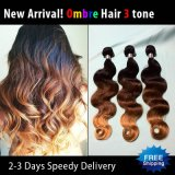 Classe 5A Ombre Color Body Wave Virgin brasileiro Human Hair Weave (HW01)