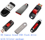 Movimentação plástica do flash do USB com logotipo personalizado (SD043)
