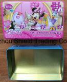 Disney Tinplate Caja de lata de metal Contenedor Embalaje