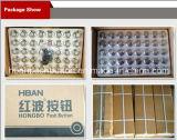 HBAN (19mm) CE RoHS Ring-iluminación plana de metal Button Switch