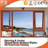 Rupture thermique en aluminium et de la fenêtre d'ébarbage Outside-Swing Fenêtre Fenêtre de l'Allemagne, du matériel digne de confiance