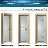 シンプルな設計のガラスパネルの家の装飾のためのアルミニウム開き窓のドア