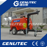 indicatore luminoso diesel mobile della torretta del generatore montato rimorchio 4*1000W