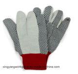 Gant pointillé de travail de main de sécurité du travail de gants de coton de toile