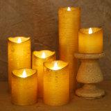 Precio de oro teledirigido de la vela de la parafina de la vela de la cera de la luz del té de la vela LED