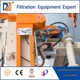 Automatische vertiefte Filterpresse mit dem Selbsttuch, das 1000 Serie für industrielles Abwasser wäscht