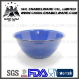 Tamanho Certificado SGS Assorted Blue Color Logo Printing Enamel Bowl