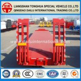 2 Ejes Neumáticos Exposed Red Low Bed / Lowboy Semirremolque