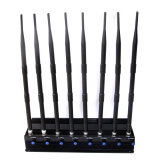 2015 휴대용 Cellphone Signal Jammer (CDMA/GSM/DCS/PHS/3G) Cellphone GPS Signal Blockers, Portable Cases를 가진 Wireless Alram Jammer