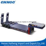 Hete Verkoop 4 Semi Aanhangwagen van het Bed van Assen de Lage met Hydraulische Ladders