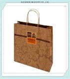 Het Winkelen Bruine Kraftpapier van de Draai van de douane de Rekupereerbare Handvat Afgedrukte Zak van het Document