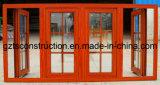 Guichet en aluminium de rendement optimum de tissu pour rideaux de guichet en verre avec le double vitrage