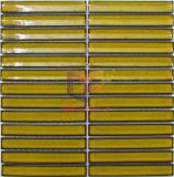 Mosaico cerâmico de tiras amarelas para sala de jantar (CST267)