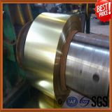 0,21 mm d'épaisseur Golden Lacquared Tinplate Steel Strip
