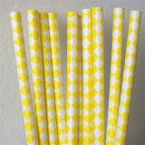 Paglie di carta ecologiche gialle di colore 100% per il partito