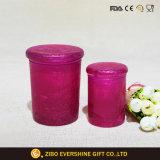 Ghiaccio differente di formato che intaglia il vaso di vetro dello Stash con il coperchio chiuso ermeticamente di sigillamento