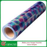 Vinilo perfecto del traspaso térmico del holograma del efecto de Qingyi para la ropa