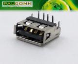 Тип разъем USB2.0A, одиночная палуба, прямоугольный сквозной тип отверстия