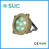 Alto latón brillo 6W piscina subacuática de la lámpara LED (Slw-07b) / 100% impermeable Waterlight / Luz subacuática / IP 68 / luz al aire libre / Piscina Luz