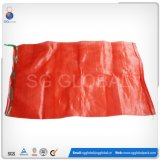 Venda a quente 50*80cm Saco de malha vermelha para embalar as cebolas e batatas